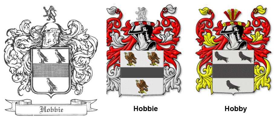 Wappen der englischen Familien Hobbie & Hobben