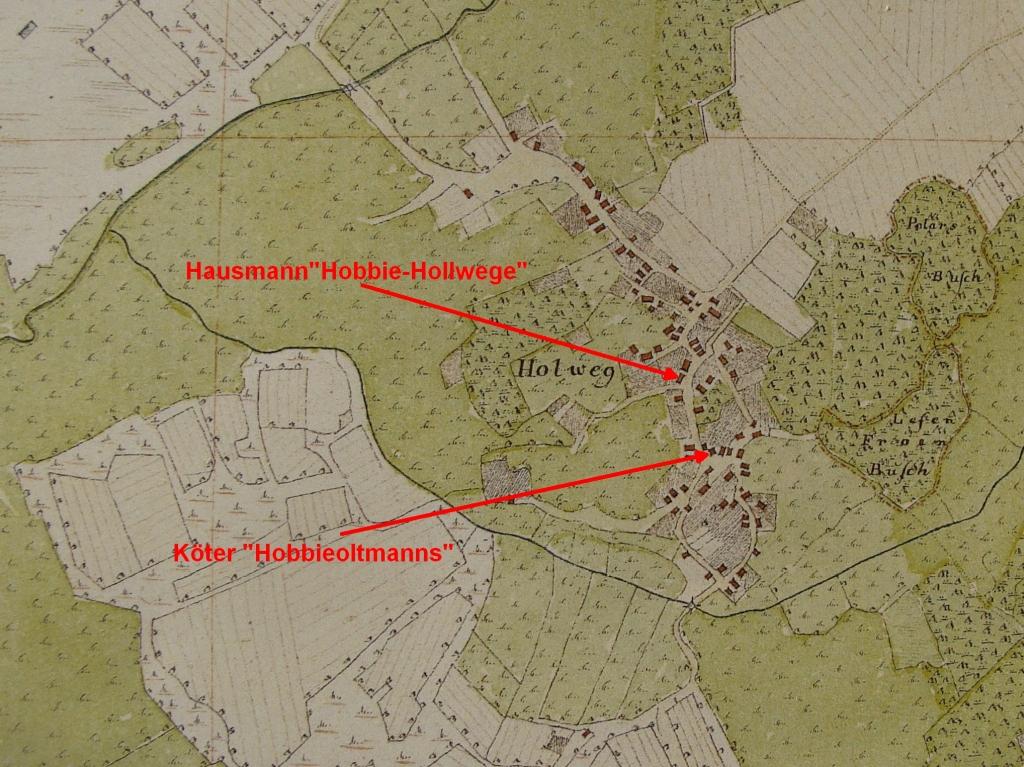 Höfe in Hollwege in Vogteikarte von 1793