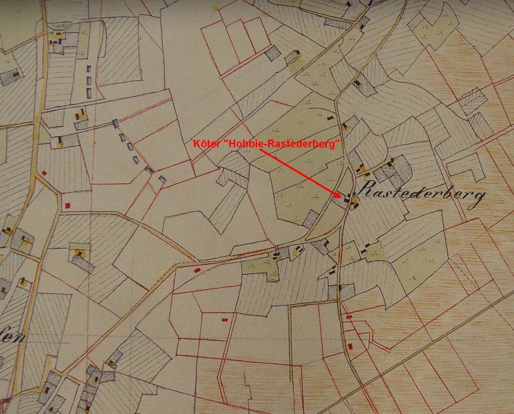 Hobbie-Hof in Rastederberg in Vogteikarte von 1797