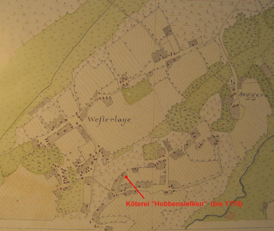 Hof in Westerloy in Vogteikarte von 1793